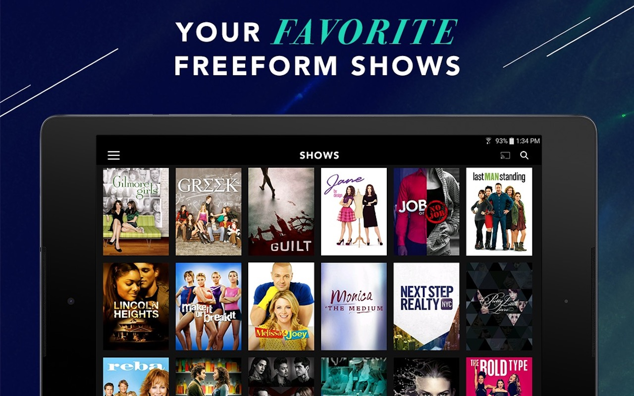can you watch live tv on freeform app