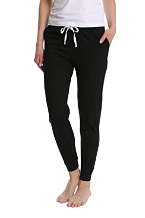 bc051e41fa Blis Women s Cotton Jogger Pajama Pants - Ladies Lounge   Sleepwear PJ  Bottoms at Amazon Women s Clothing store
