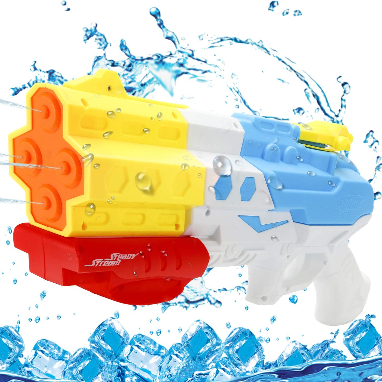 EPCHOO Wasserpistole, 1200ML Groß Water Blaster Water Gun Spielzeug mit 8-10 Meter Reichweite