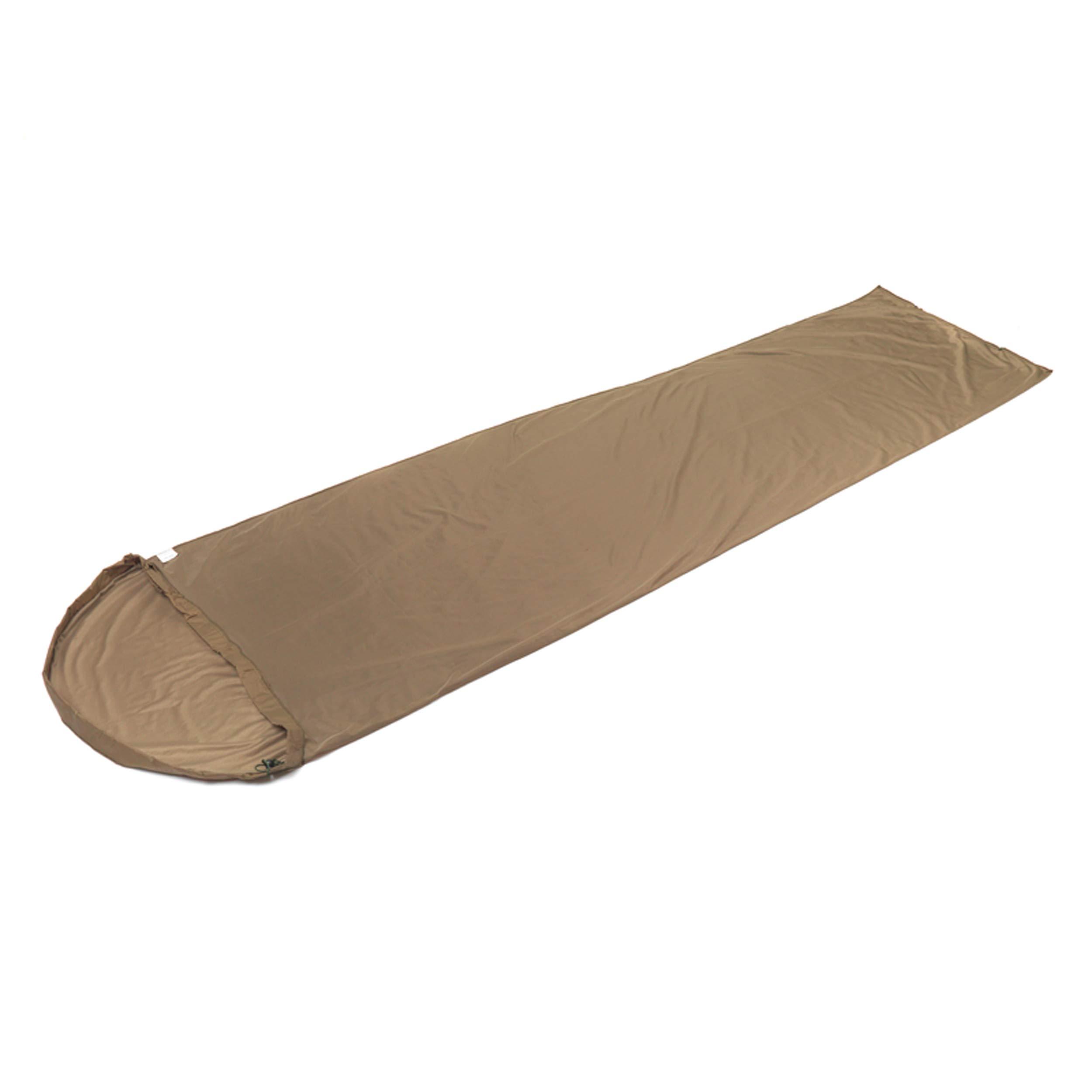 Snugpak TS1 Thermal Suede Sleeping Bag Liner, Polyester, Warm Insulation, Desert Tan by Snugpak