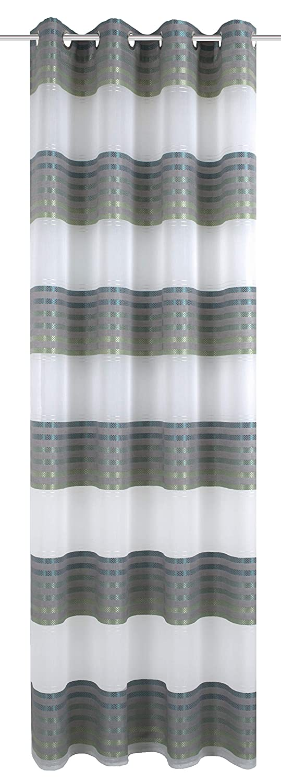 Stoff Home Fashion /Ösenschal Cappuccino 145 x 140 cm