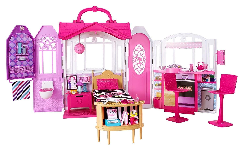 Amazon Es Barbie Glam Casa De Vacaciones Portatil Miscelanea