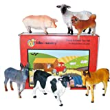 Farm Animal Plastic Toy Figures boxed set of 6