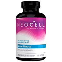 NeoCell Move Matrix with Type 2 Hydrolyzed Collagen, Promotes Joint Health, Gluten Free & Paleo-Friendly - 150 Capsules (Package May Vary)
