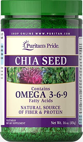 Amazon.com: Puritan s Pride Chia seeds-16 oz semillas ...