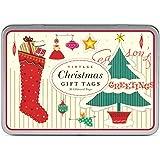Cavallini Glitter Vintage Christmas 36 Assorted Gift Tags