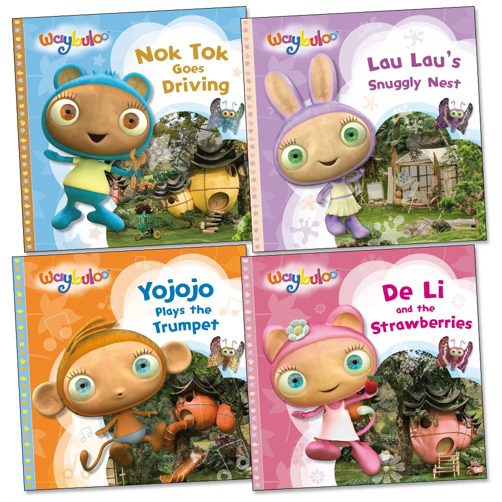 Waybuloo Story Pack De Li And The Strawberries Lau Lau S Snuggly Nest Yojojo Plays The Trumpet Nok Tok Goes Driving Amazon Co Uk Books
