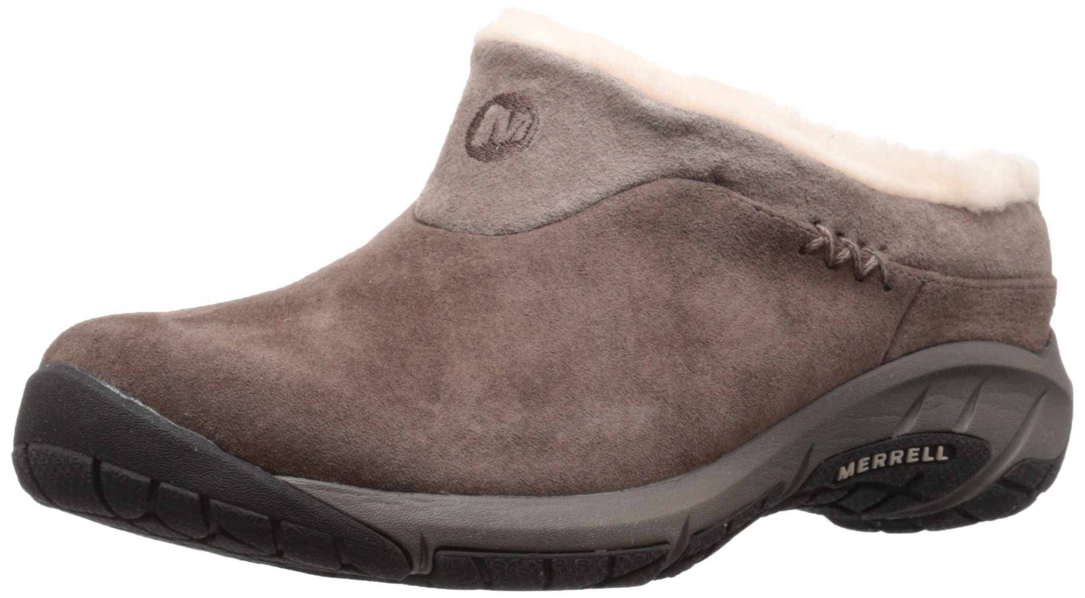 Merrell Women's Encore Ice Slip-On Shoe,Merrell Stone Leather,9.5 M US