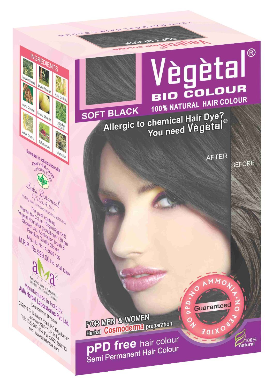 Amazon Vegetal Bio Colour Soft Black 50gm Pack Of 3 Beauty