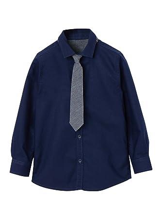 VERTBAUDET Camisa niño con Corbata: Amazon.es: Ropa y accesorios