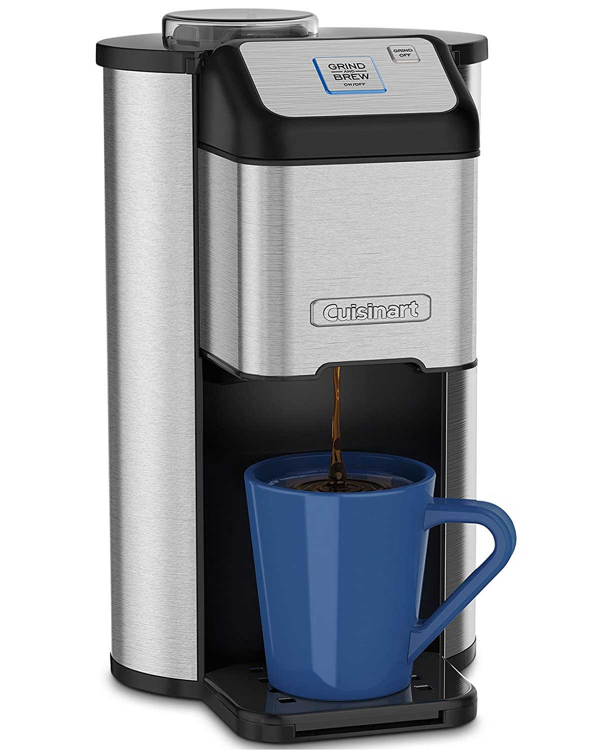 Amazon.com: Cuisinart Single Cup Grind & Brew Coffeemaker with Automatic  Blade Grinder and Removable Parts & Removable Parts & BONUS FREE Gold Tone  Filter ...