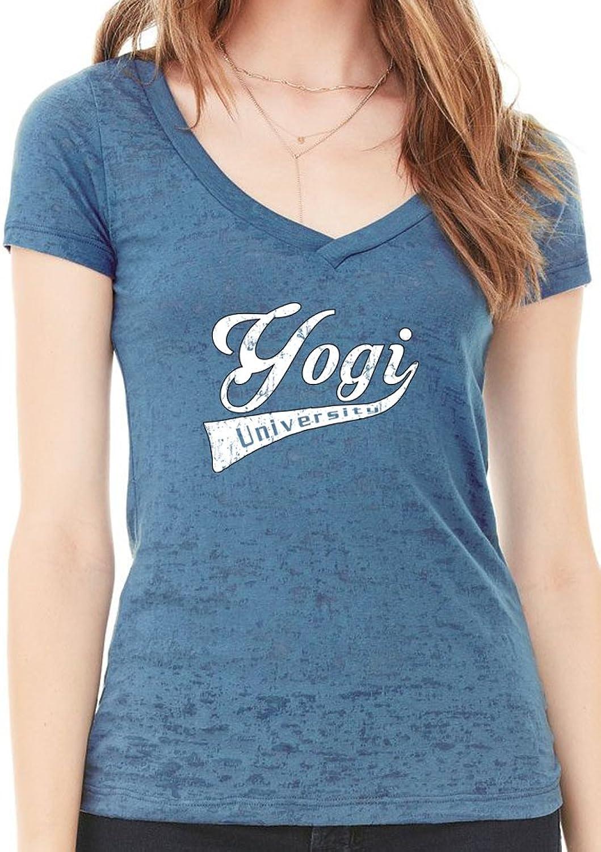 Yoga Clothing For You Ladies Yogi University Burnout V-neck Tee Shirt