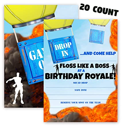 Amazon Com Pop Parties Gaming Invitations 20 Invitations 20
