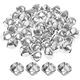 Pengxiaomei 1 Inch Craft Bells, Silver Jingle Bells Bulk for Christmas Festival Decorations ( 40 Pcs )