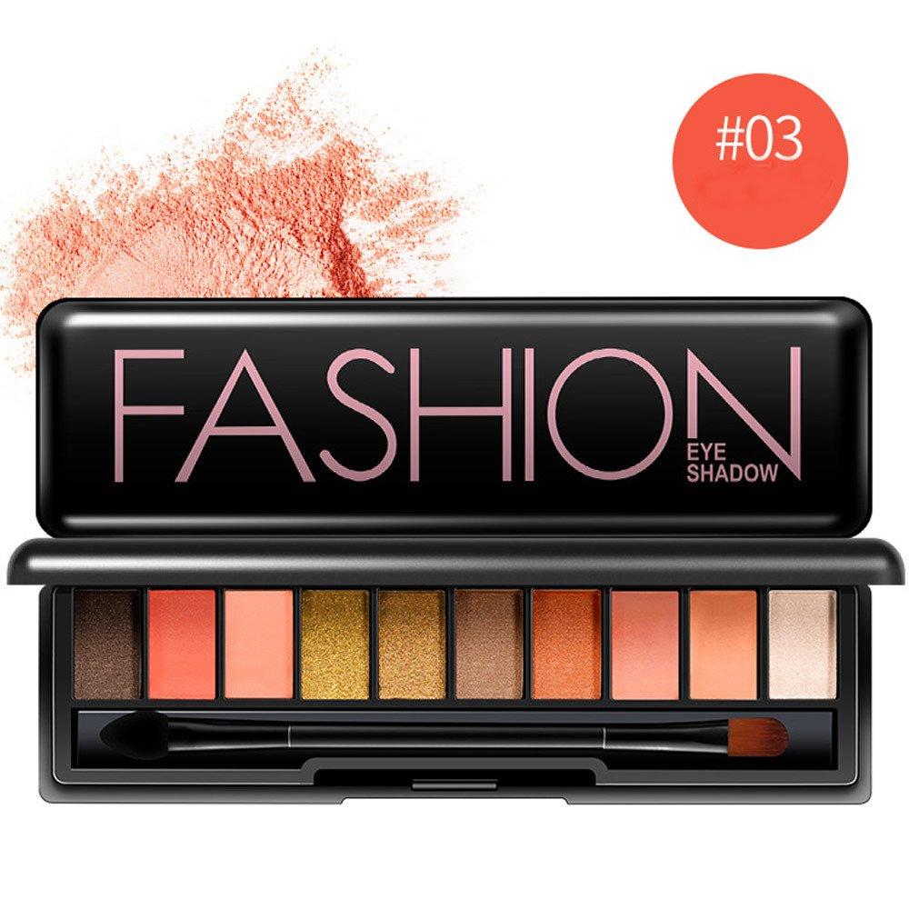 10 Colors Matt Eyeshadow Pallet, Hosamtel Natural Smooth High Pigmented Smokey Eyes Make-up Set (03#)