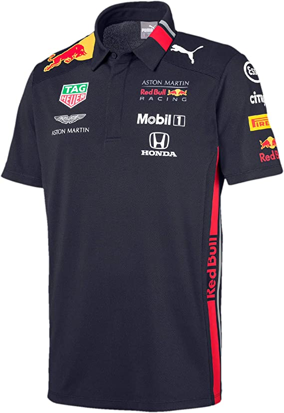 Red Bull Racing Aston Martin Team Polo 2019, XXL, Azul Navy, XX ...