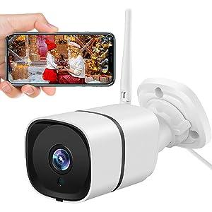 Security Camera Outdoor - NETVUE 2K 3MP Weatherproof Surveillance Camera