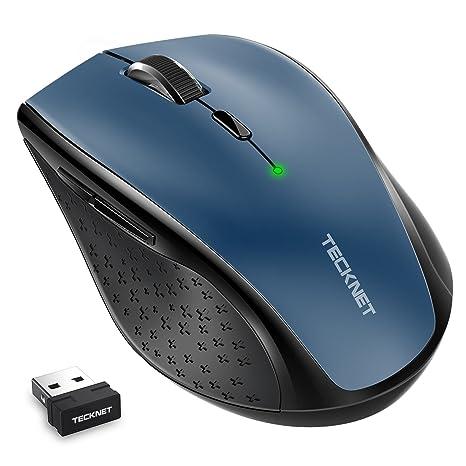 TeckNet Ratón inalámbrico, Classic 2.4G Wireless mouse 4800 DPI 6 Niveles de ajuste con