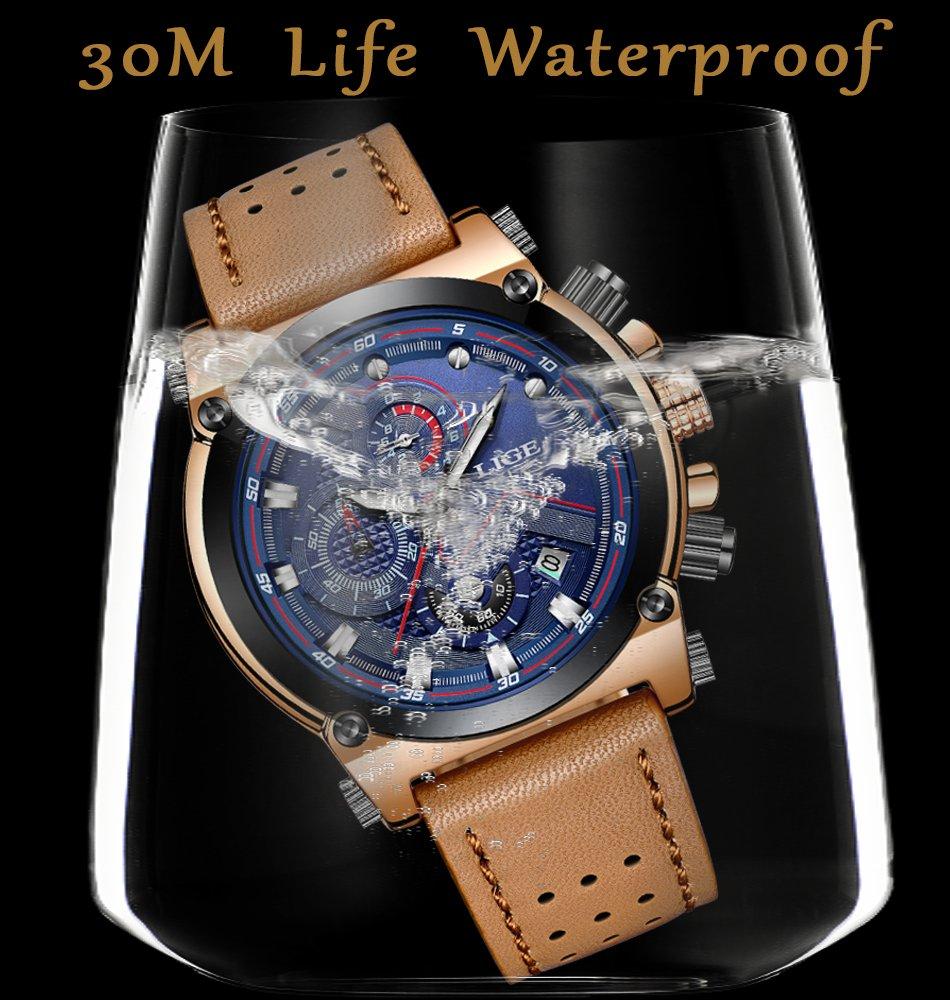 mens watches fashion leather analog quartz watch men sport. Black Bedroom Furniture Sets. Home Design Ideas