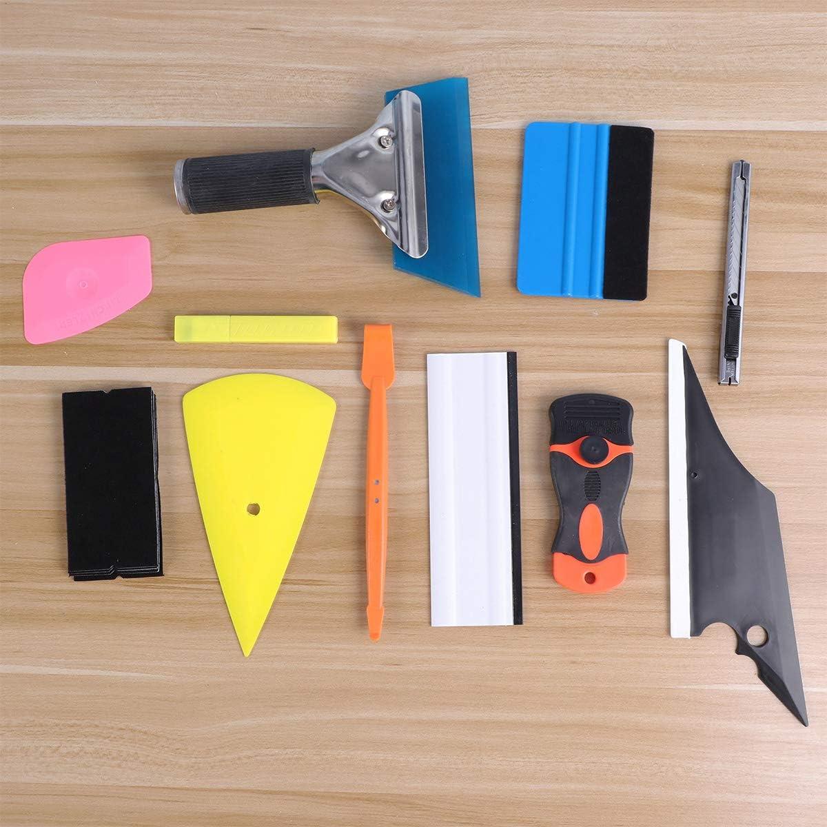 Vosarea 11pcs Car Vinyl Wrap Tool Window Tint Kit for Auto Film Tinting Scraper Application Installation