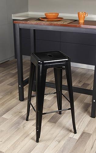 GIA 30-Inch Bar-Height Backless Metal Stool