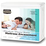 Amazon Price History for:Premium Zippered Waterproof Mattress Encasement - Bed Bug Proof Mattress Cover - Ample Zipper Opening for Mattress Protector - Protection from Fluids, Insects and Dust Mites (Queen) by Utopia Bedding