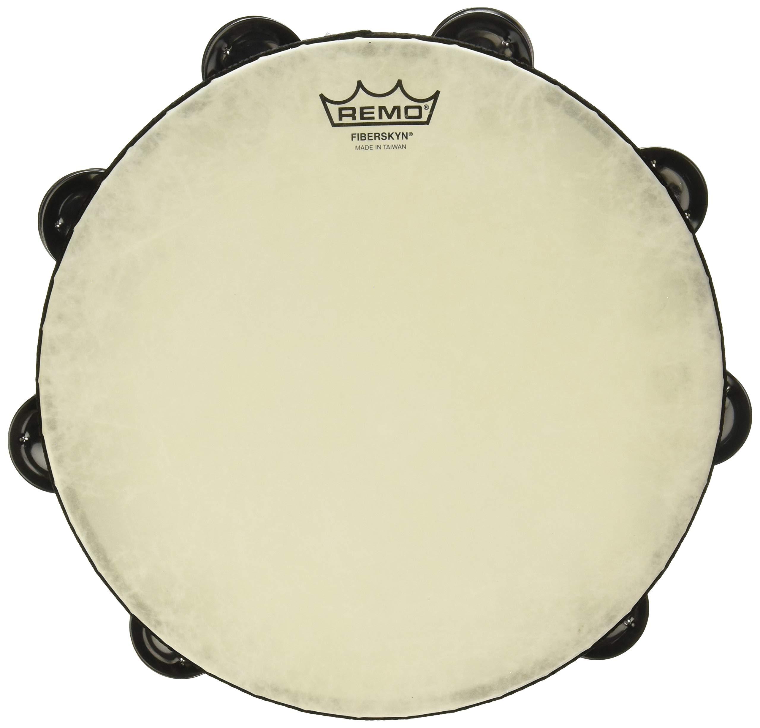 Remo Fixed-Head Tambourine Black 10 in. by Remo