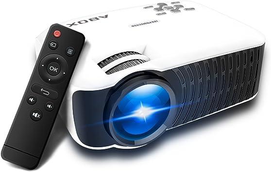 Proyector 2400 lúmenes, globmall Abox T22 apoyo 1080P HD ...