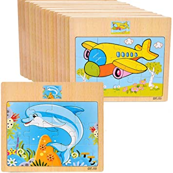 5 Pcs Wooden Puzzle Wooden Jigsaws For 2 3 4 5 Year Old Girl And Boy Educational Toy Intelligence