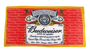 Classic Budweiser etiqueta toalla de playa (30 en. X 60 en.