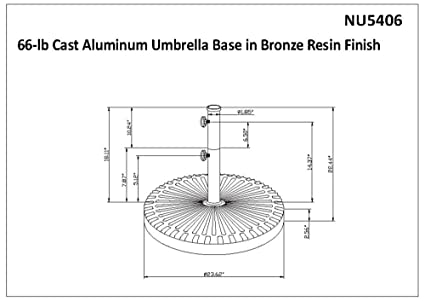 Amazon.com: 66-lb paraguas resistente a base de resina de ...