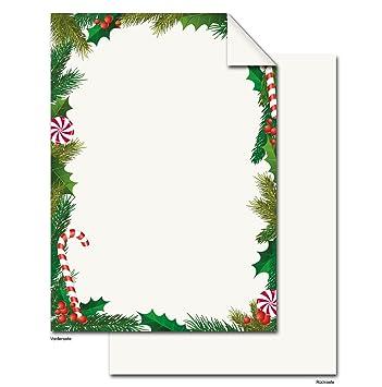 25 hojas de papel Navidad Blanco Rojo Verde Papel de carta ...