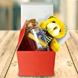 Exciting Lives Mini Teddy with I Love You Message in A Bottle - Birthday Anniversary Valentine Gift for Husband Wife Boyfriend Girlfriend (I Love You)