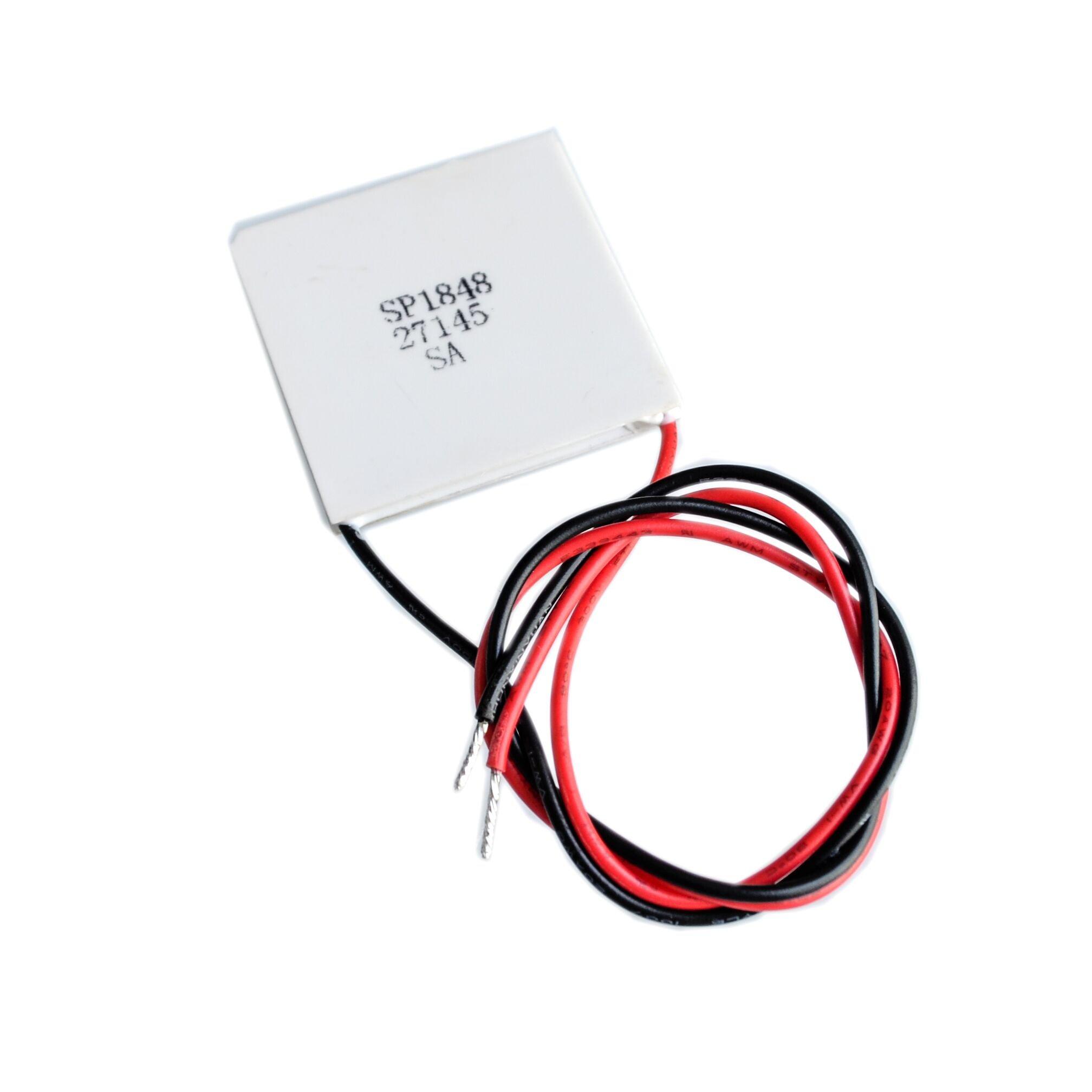 Seajunn 10PCS/LOT SP1848-27145 TEC 40x40mm Semiconductor Thermoelectric Heatsink Cooler Peltier Plate Module For Power Generation
