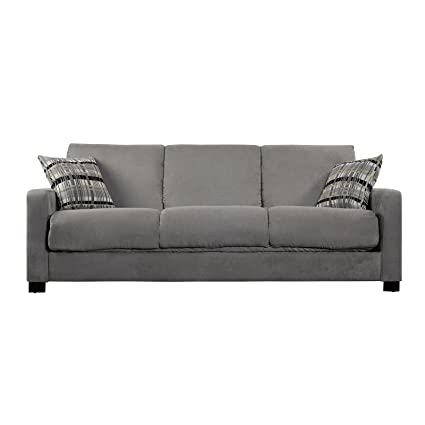 Delicieux Portfolio Trace Sage Microfiber Futon Sofa Sleeper. This Cozy Couch Also  Serves As A Sofa