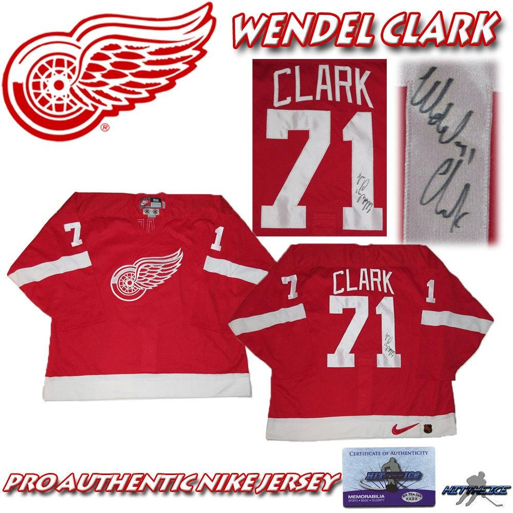 info for 79330 3582a delicate Signed Wendel Clark Jersey - NIKE PRO w COA ...