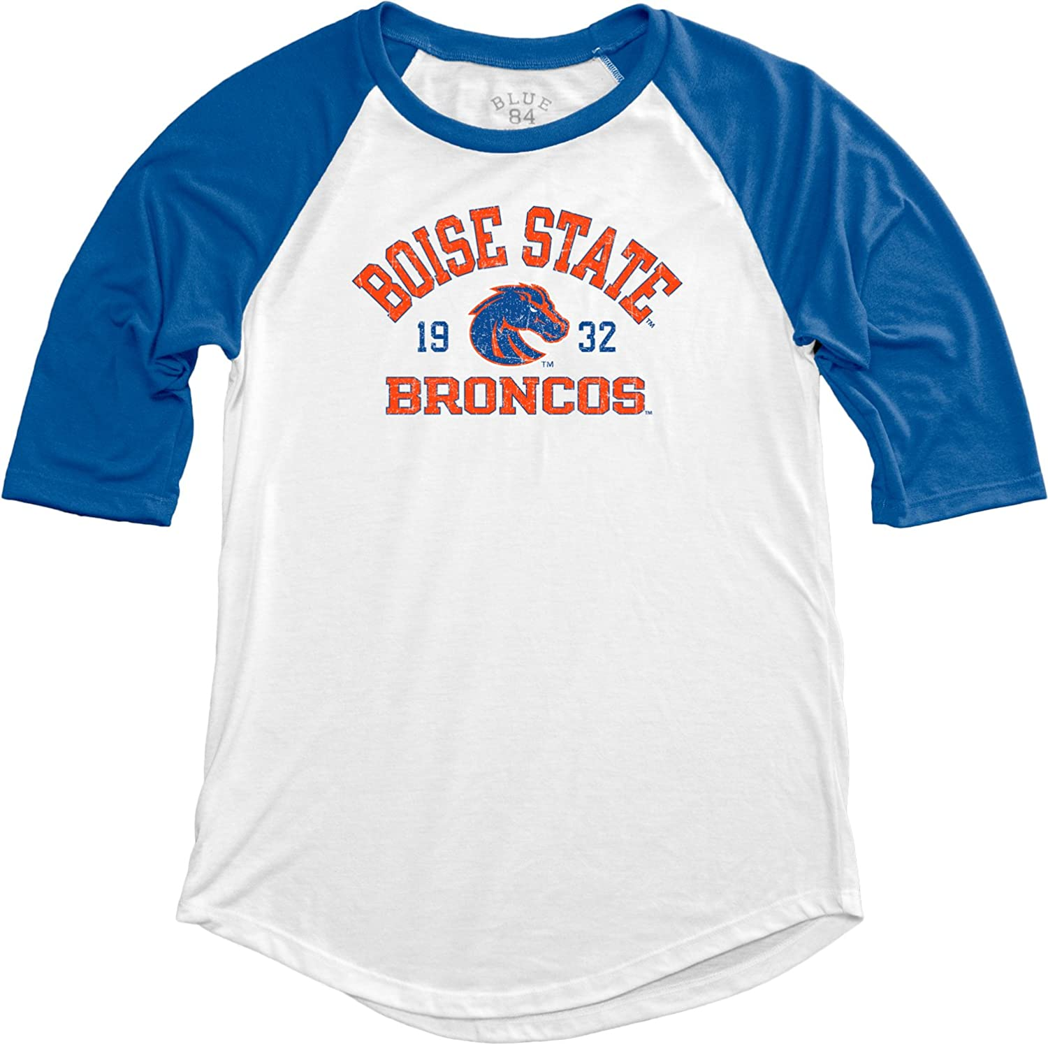 NCAA Boise State Broncos Adult Women NCAA Womens Teagan Baseball Tee,Large,Royal
