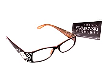 525323e39ac8 Image Unavailable. Image not available for. Color: Optical Ladies READING EYEGLASSES  SWAROVSKI ...
