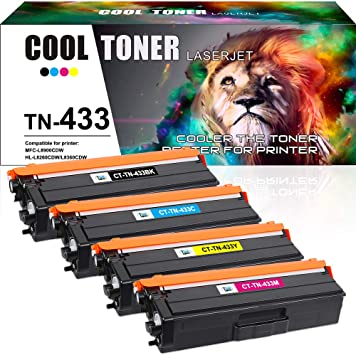 Compatible Toner Cartridges for Brother TN436 Replacement for Brother HL-L8260CDW HL-L8360CDW HL-L8360CDWT HL-L9310CDW MFC-L8610CDW Printer with Chips Black Magenta Yellow Blue-Combination