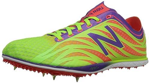 New Balance Women's MD800 Track Spike, Lime/Orange, 11 B US