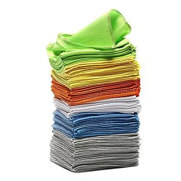 Un conjunto de 48 toallas 40x40cm limpiadoras con efecto completo, hechas de 6 materiales diferentes que ...