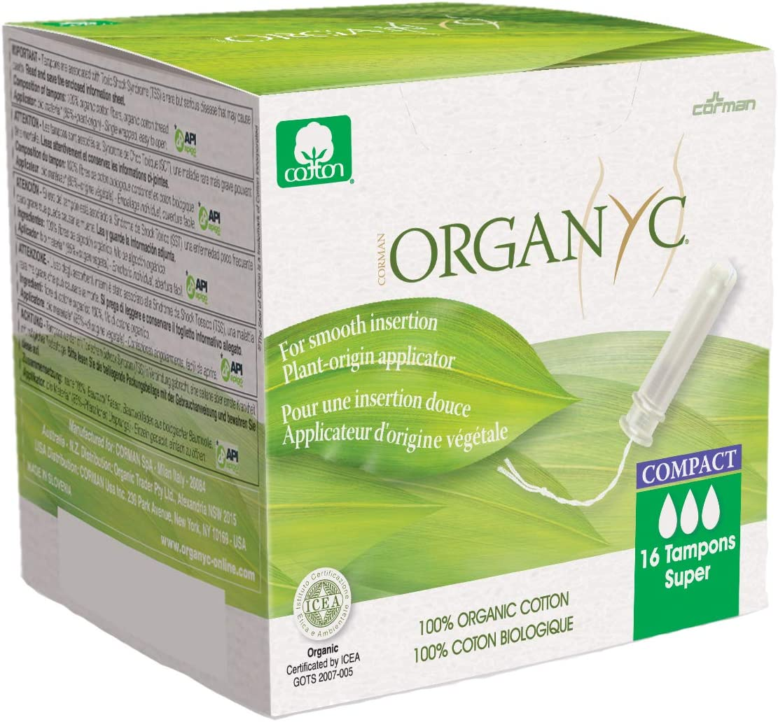 Organyc 100% Certified Organic Cotton Tampons – Plant-Based Eco-Applicator
