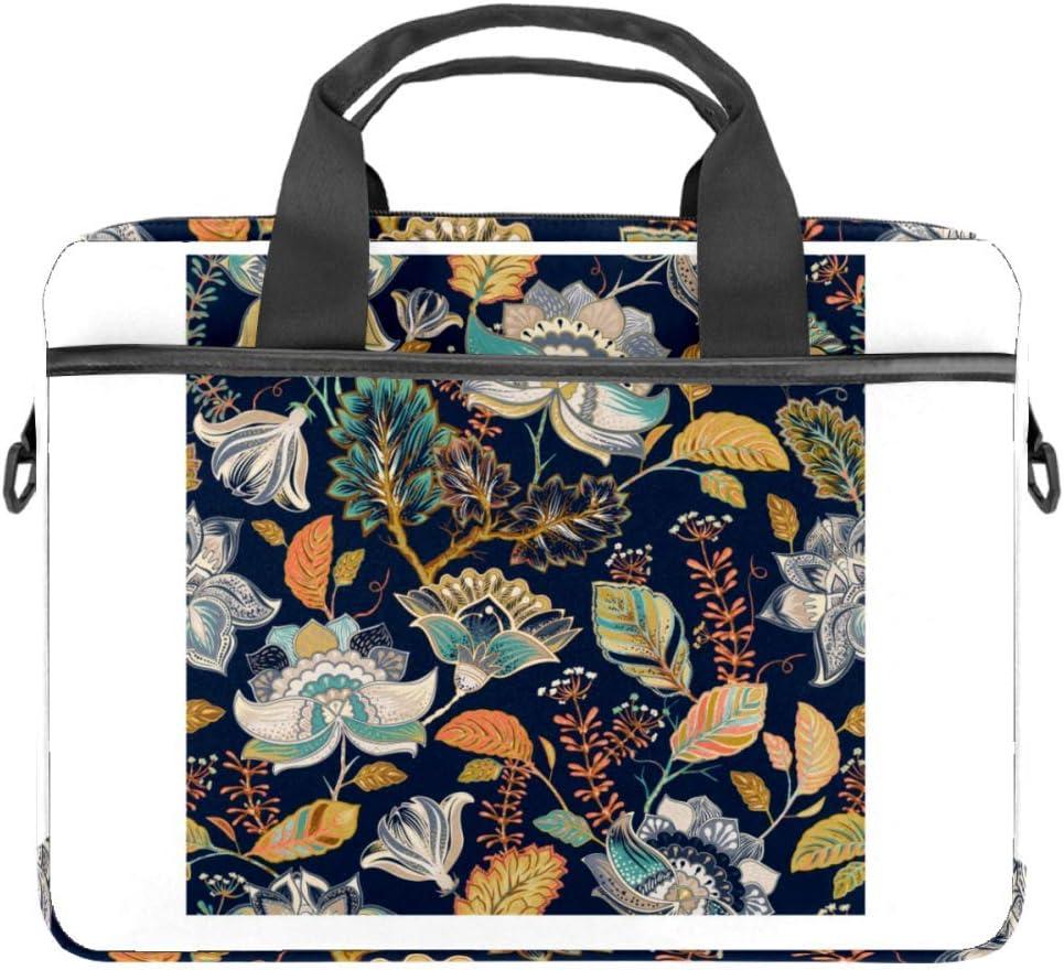 Vintage Flower Laptop Bag for Men and Women,Laptop Computer and Tablet Shoulder Bag Carrying Case 15 Inch Durable Office Bag