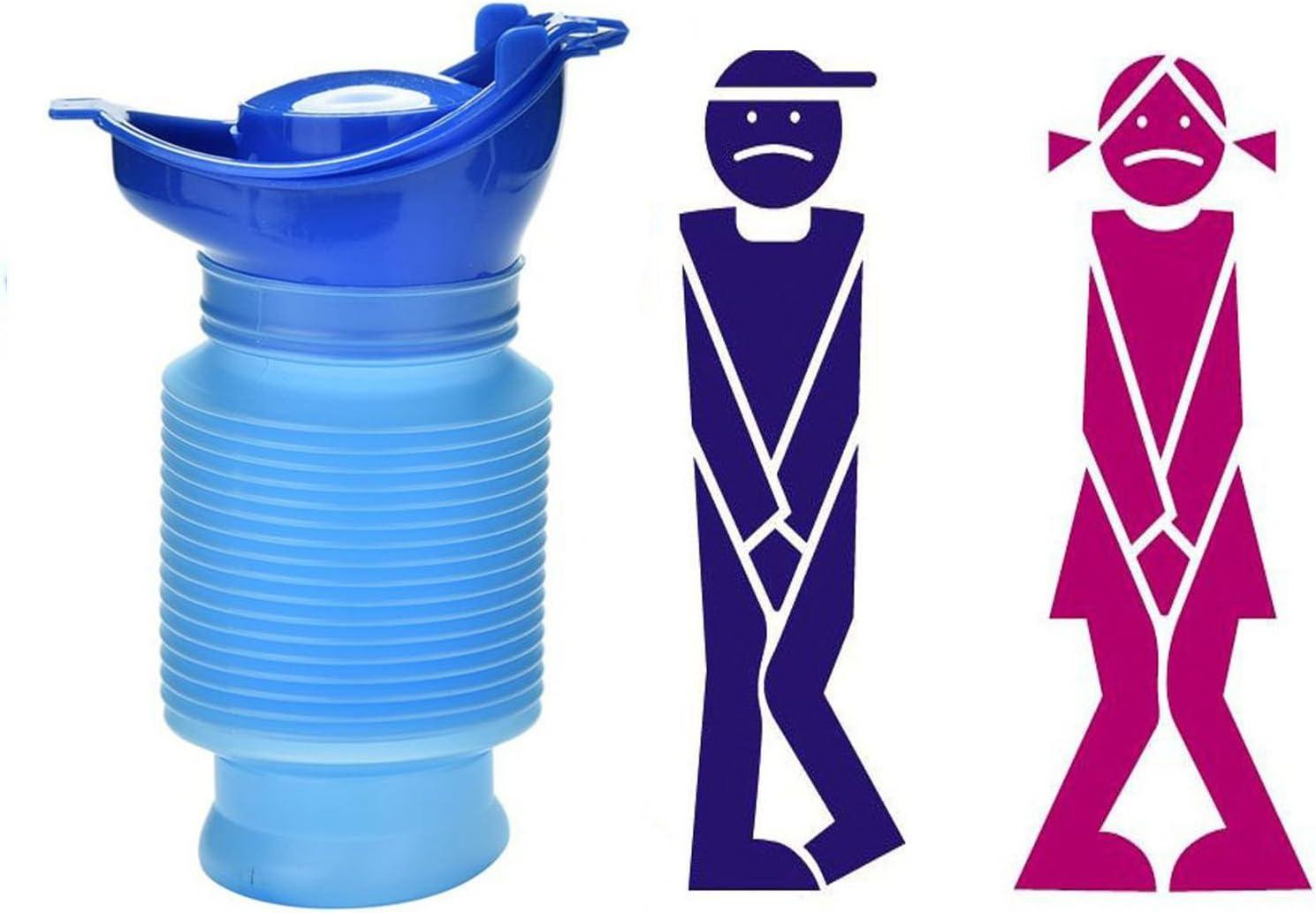 Camping Tragbare Toilette Urin Flaschentasche Reise T/öpfchen Urin Trichter Geeignet f/ür M/änner Frauen Kinder 3 STK Urinal f/ür Damen