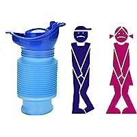 Camping Portable Toilette Bouteille Sac Voyage Potty Urine Entonnoir pour Unisexe Hommes Femmes Enfants Enfants Voiture Traffic Jam