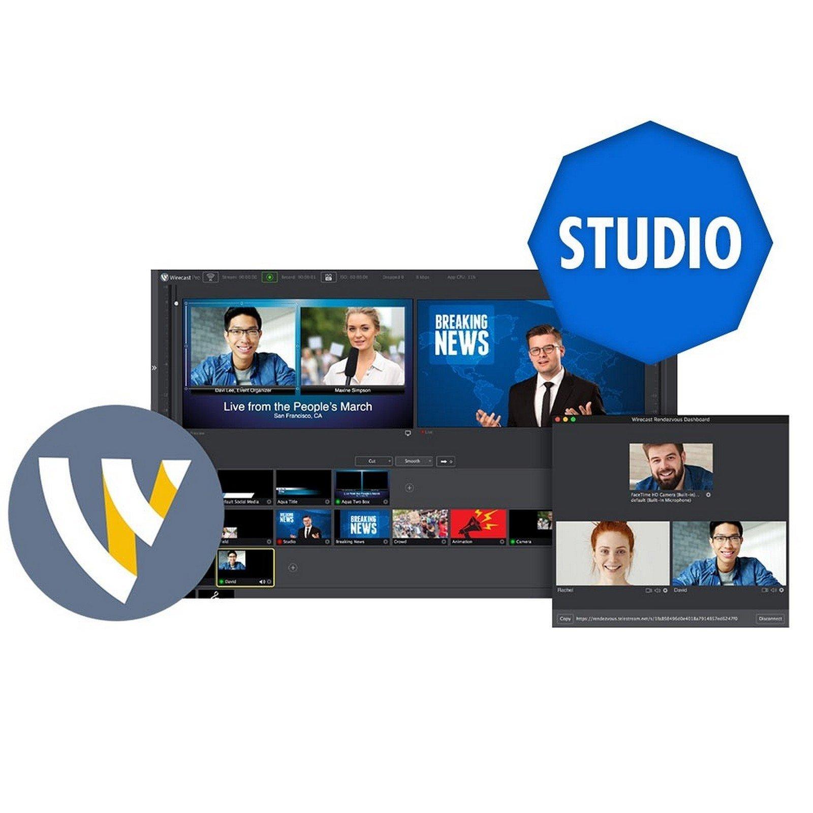 Telestream Wirecast Studio 8 (Mac) by Telestream (Image #1)