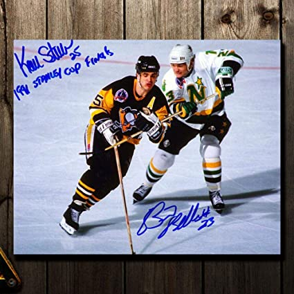 2959bcf28 Image Unavailable. Image not available for. Color  Kevin Stevens vs. Brian  Bellows 1991 Stanley Cup Finals Dual ...