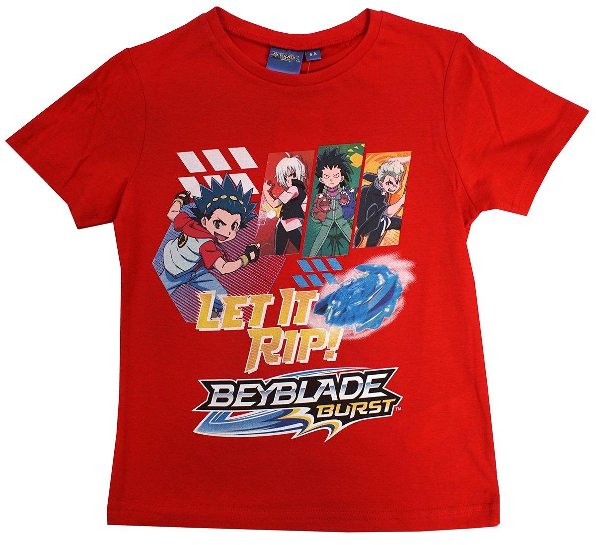 Beyblade Boys Long Sleeve T-Shirt 3//8 Years