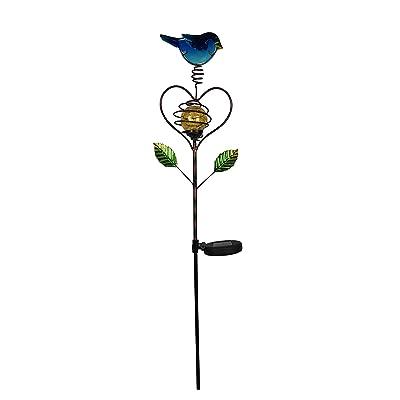 Moonrays 96307 Love Bird Stake Light, Blue, White and Green