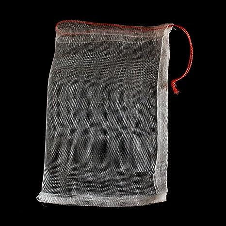 Ganquer 40 Bolsas de Malla para Insectos de pájaros, protección de jardín, Bolsa de Red con cordón para Plantas y Frutas, 30 cm x 20 cm (15 cm x 10 ...